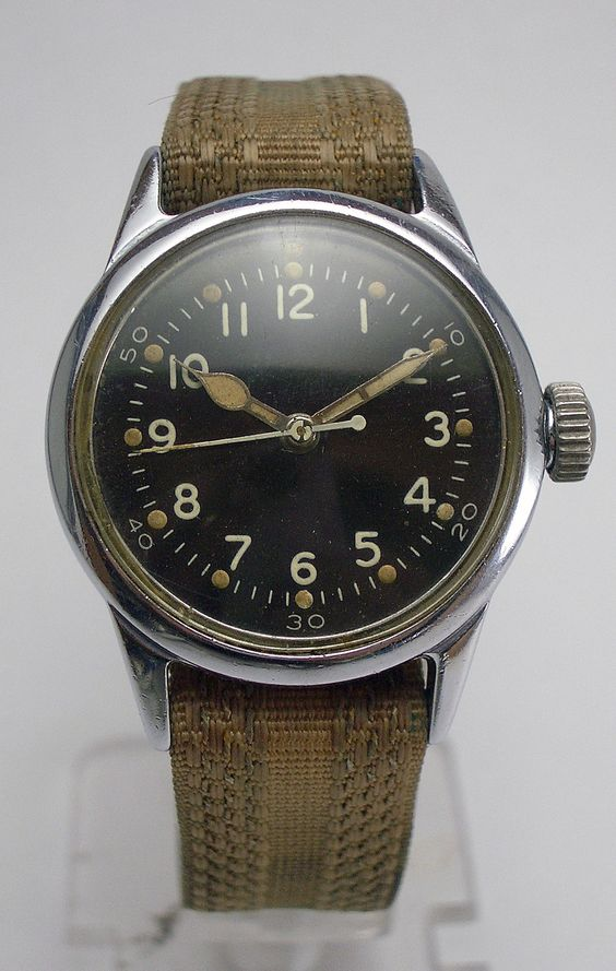 WWII Military Hamilton 2987 18J USMC Navy Aviators Hack Watch