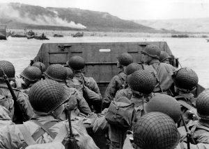 American troops approaching Omaha Beach