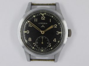 British WW2 W.W.W. Watch Produced by Lemania