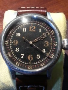Seikosha Naval Aviators Watch on Brown Leather