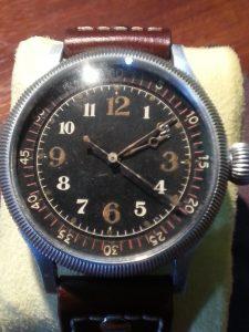 Seikosha Naval Aviators Watch on Brown Leather