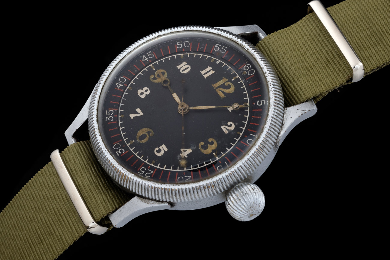 Seikosha Naval Aviators Watch on Olive NATO
