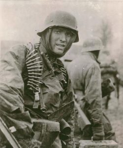 Iconic photo of SS Trooper Hans Tragarsky