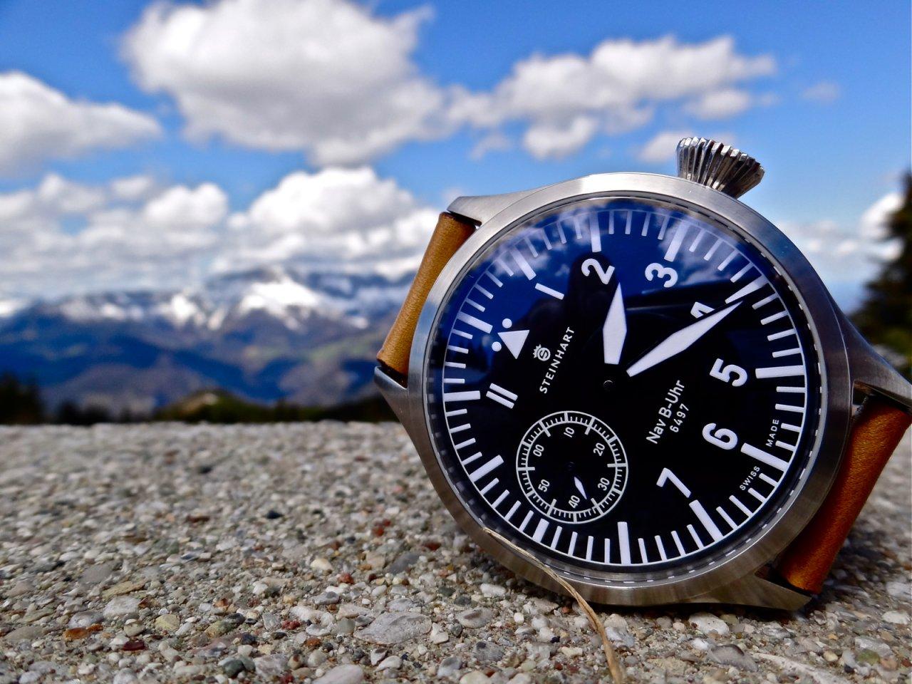 Modern Steinhart B-Uhr Flieger 47mm