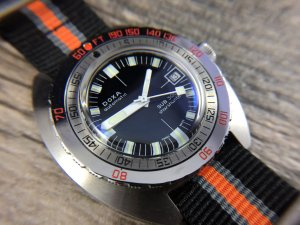 DOXA Sub Sharkhunter on Orange NATO